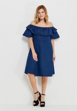 Платье джинсовое LOST INK PLUS. Цвет: синий