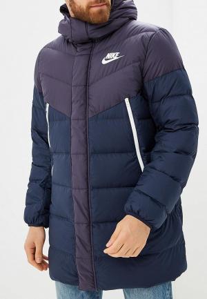Пуховик Nike. Цвет: синий