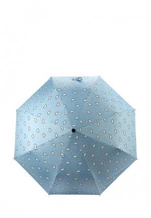 Зонт складной Kawaii Factory. Цвет: голубой