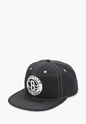 Бейсболка Mitchell & Ness. Цвет: черный