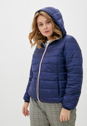 Куртка утепленная Persona by Marina Rinaldi. Цвет: синий