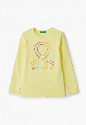 Лонгслив United Colors of Benetton. Цвет: желтый