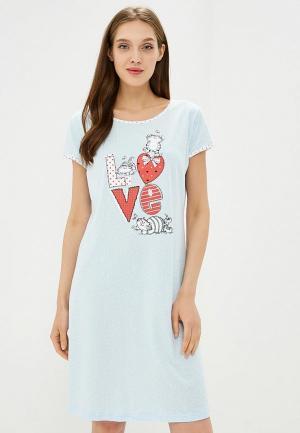 Сорочка ночная Kinanit. Цвет: голубой