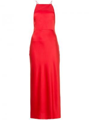 Вечернее платье на бретельках Jason Wu. Цвет: красный