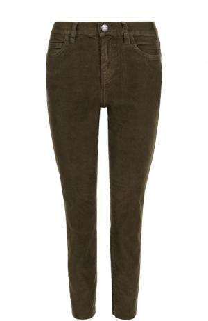 Укороченные вельветовые джинсы Current/Elliott. Цвет: хаки
