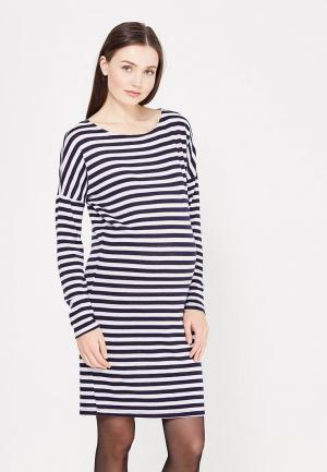 Платье MammySize. Цвет: синий