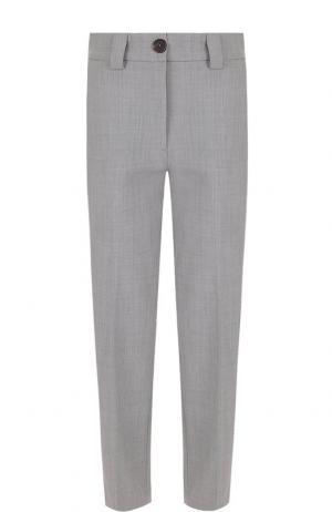 Укороченные брюки со стрелками и карманами Erika Cavallini. Цвет: серый