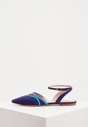 Туфли Alberta Ferretti. Цвет: синий