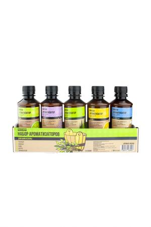 Набор ароматизаторов 5х250 мл PROFFI SAUNA. Цвет: коричневый
