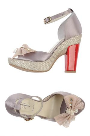 Heeled sandals BLUE LES COPAINS. Цвет: dove grey