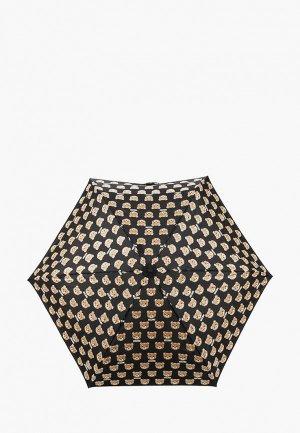 Зонт складной Moschino. Цвет: черный