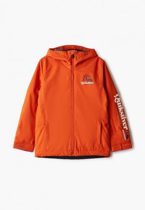 Куртка сноубордическая Quiksilver. Цвет: оранжевый