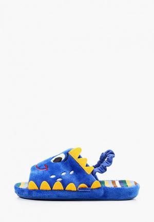 Тапочки Котофей. Цвет: синий
