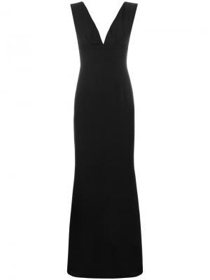 Длинное платье с глубоким вырезом Marc Ellis. Цвет: чёрный