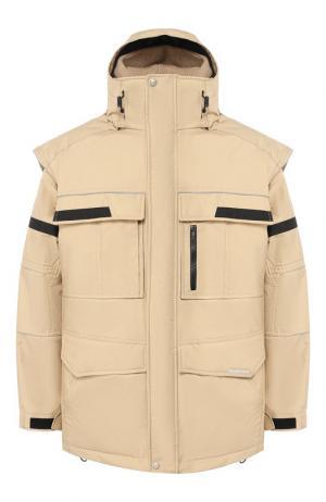 Ветронепроницаемая куртка Twinset Balenciaga. Цвет: бежевый
