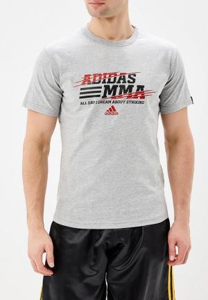 Футболка adidas Combat. Цвет: серый