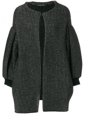 Объемное пальто Antonino Valenti. Цвет: чёрный