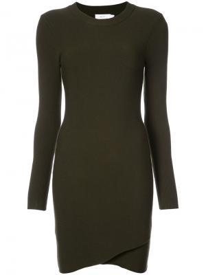 Трикотажное мини-платье A.L.C.. Цвет: зелёный