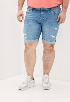 Шорты джинсовые Jack & Jones. Цвет: голубой