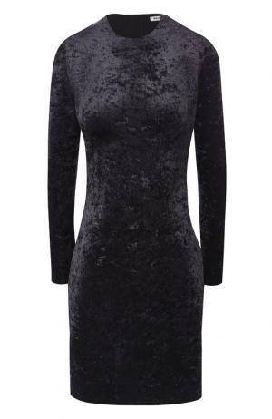 Бархатное мини-платье Balenciaga. Цвет: черный
