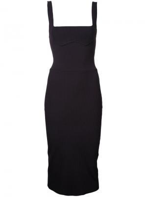 Платье-бюстье Density Hybrid Dion Lee. Цвет: коричневый