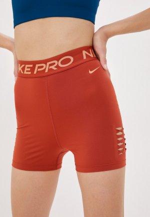 Шорты компрессионные Nike. Цвет: коричневый
