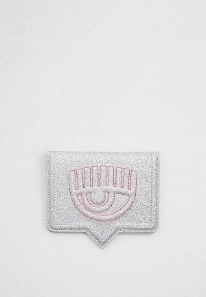 Обложка для паспорта Chiara Ferragni Collection. Цвет: серебряный