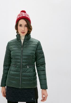 Куртка утепленная Luhta. Цвет: зеленый