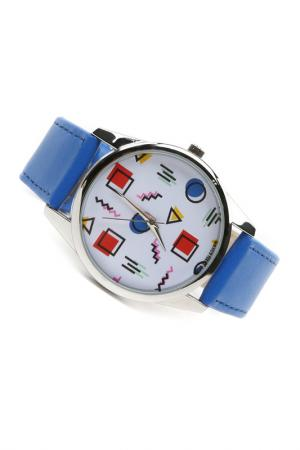 Часы Яркая геометрия MITYA VESELKOV. Цвет: красный