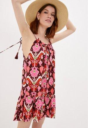 Платье пляжное Maaji. Цвет: бордовый