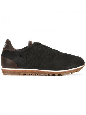Кроссовки на шнуровке Alberto Fasciani. Цвет: чёрный