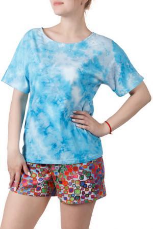 Пижамный комплект Sonett. Цвет: оранжево-голубой