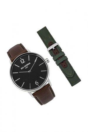 Наручные часы, сменый браслет BEN SHERMAN. Цвет: коричневый