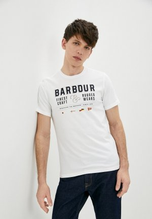 Футболка Barbour. Цвет: белый