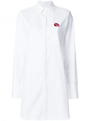 Рубашка с логотипом Lala Berlin. Цвет: белый