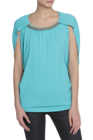 Блуза CLIPS. Цвет: бирюзовый