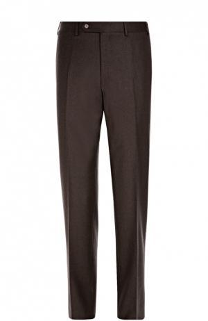 Классические шерстяные брюки Canali. Цвет: коричневый