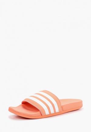 Сланцы adidas. Цвет: коралловый