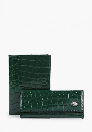 Обложка для документов и ключница Dimanche. Цвет: зеленый
