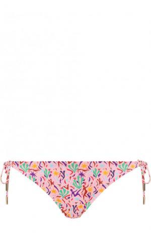 Плавки-бикини с бантами и принтом Lazul. Цвет: разноцветный