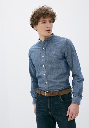 Рубашка джинсовая Polo Ralph Lauren. Цвет: синий