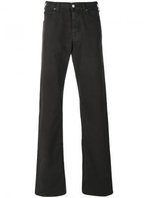 Расклешенные джинсы Armani Jeans. Цвет: зелёный