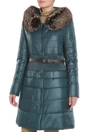 Пальто La Reine Blanche. Цвет: темно-зеленый