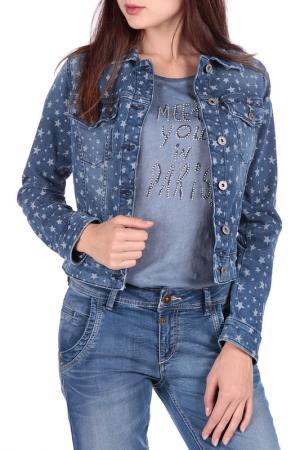Джинсовая куртка FREESOUL. Цвет: синий