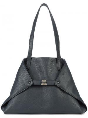 Маленькая сумка-тоут Akris. Цвет: синий