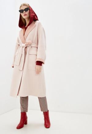 Пальто French Connection. Цвет: розовый