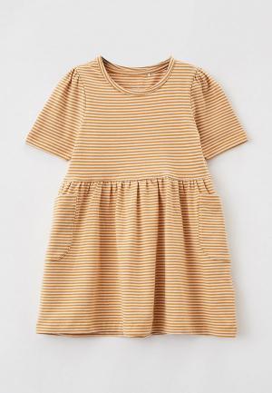 Платье Name It. Цвет: коричневый