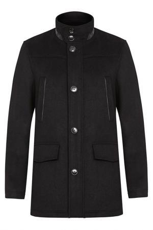 Пальто шерстяное Al Franco. Цвет: черный