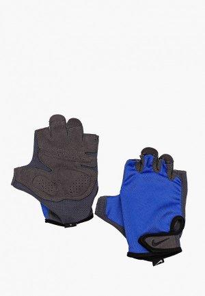 Перчатки для фитнеса Nike. Цвет: синий