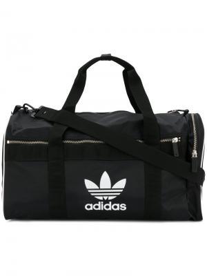 Большая дорожная сумка Adidas. Цвет: чёрный